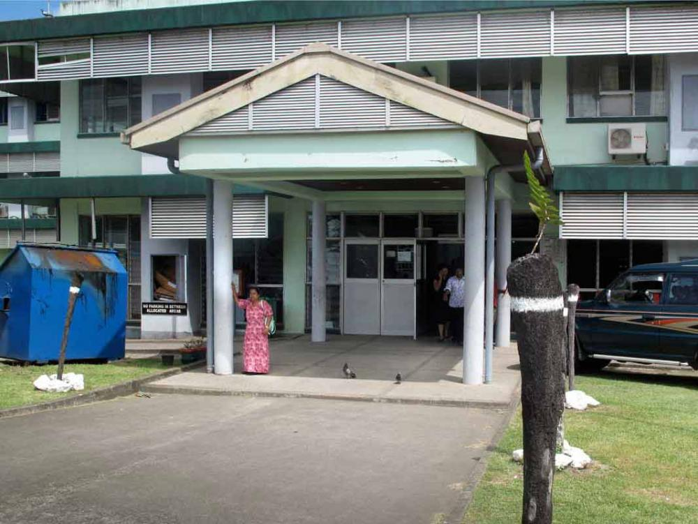 Entrance of the hospital